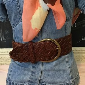 Express Braided Leather Belt NWT